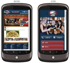 Pub Mobile Site - Before After ---