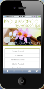 Salon_and_Spas mobile site example