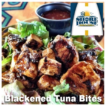 blackened tuna bites - shore house ---