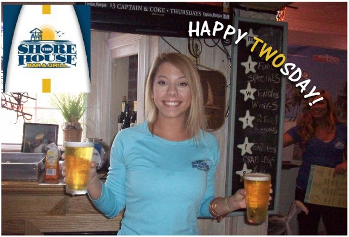 Happy Twosday Shore House photo girl 2 beers ---