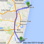 Map Long Branch to Point Pleasant