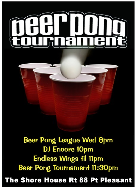 WED BEER PONG Poster - 5-21-2014 ---