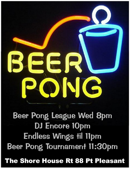 WED BEER PONG Poster - 6-4-2014 ---